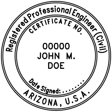 Arizona Professional Engineer Stamp