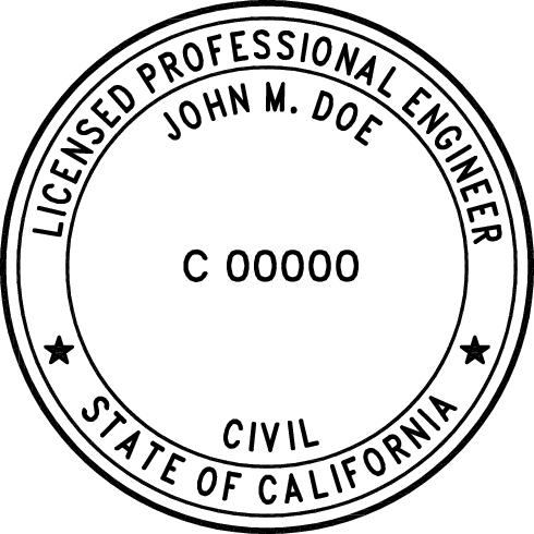 California Professional Engineer Stamp Pe Stamps