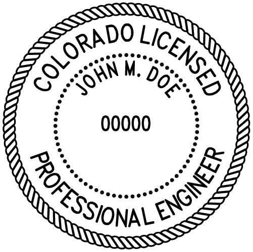 Colorado Professional Engineer Stamp