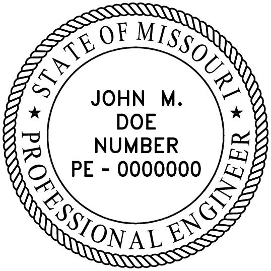 missouri professional engineer stamp pe stamps