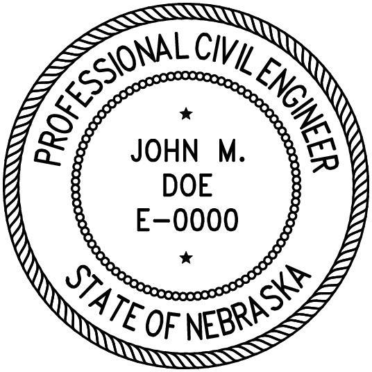 Nebraska Professional Engineer Stamp Pe Stamps