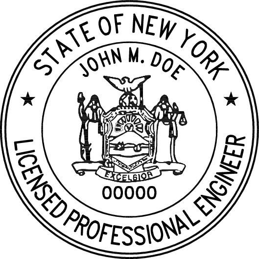 New York Professional Engineer Stamp