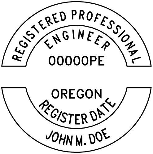 Oregon Professional Engineer Stamp
