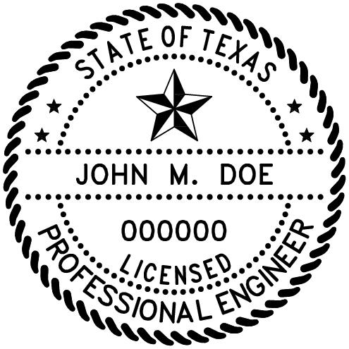 Texas Professional Engineer Stamp Pe Stamps