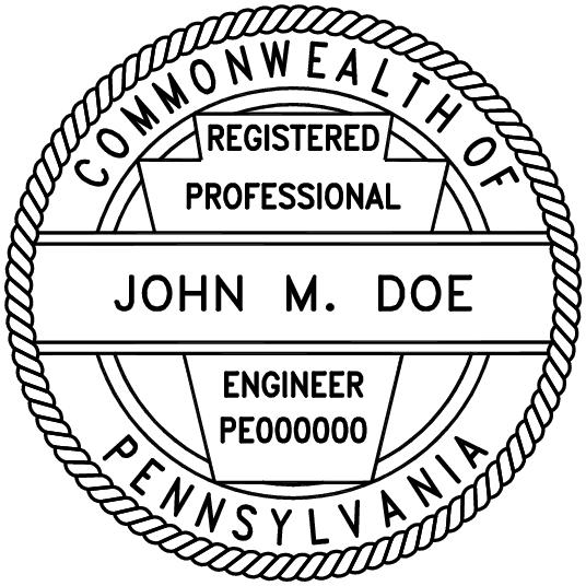 Pennsylvania Professional Engineer Stamp Pe Stamps
