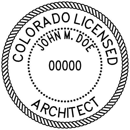 Colorado Architect Stamp