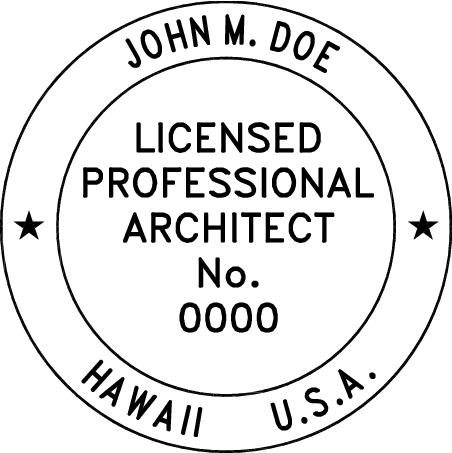 Hawaii Architect Stamp