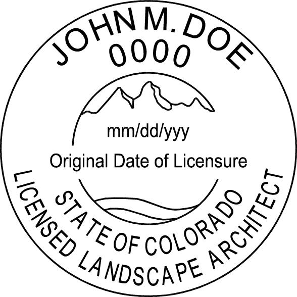Colorado Landscape Architect Stamp